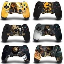 Etiqueta protectora de la cubierta de Mortal Kombat para la piel del controlador de PS4 para Playstation 4 Pro etiqueta delgada accesorios de la etiqueta engomada DE LA PIEL DE LA PS4