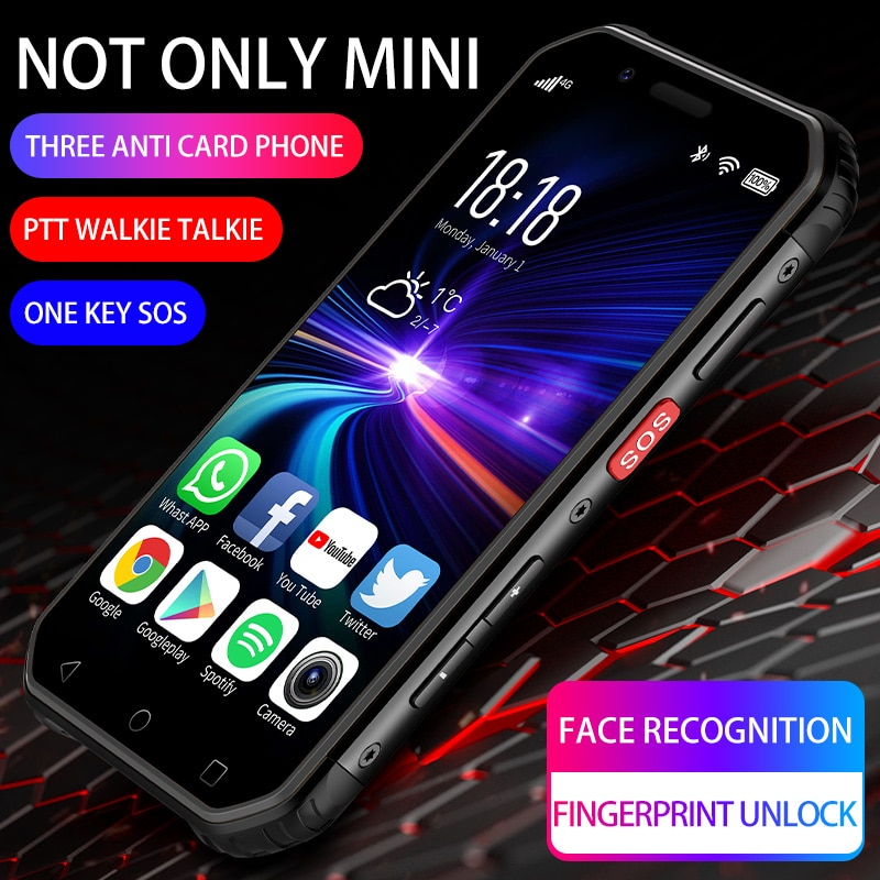S10 Outdoor Waterproof And Fall-Proof Mini Smart Phone 4G Netcom NFC Small Screen Three Mobile Phone Portable 3+32GB