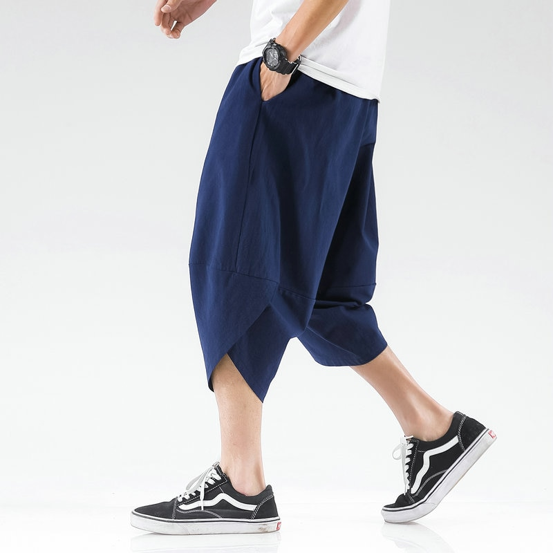 Harem Pants Male Summer Mens Cross Pants Streetwear Loose Chinese Style High Quality Men Casual Pants Fashionable Large Size 5Xl