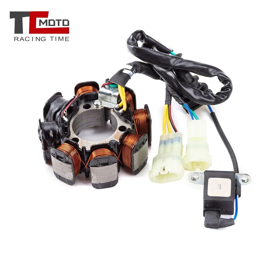 Estátor de encendido de la bobina de la motocicleta Magneto para Honda TRX250TE FourTrax 250 ES 2005-2010 TRX250TE Recon 250 ES 31120-HM8-B01