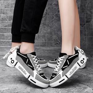 Women Fashion Shoes  Couple Casual Shoes Women Breathable Canvas Shoes  Trend Vulcanize Shoes Women 2020 New Popular Board Shoes