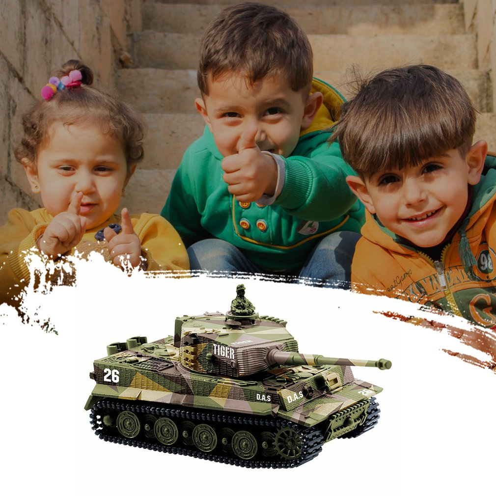 German Tiger Mini Remote Control Tank Car Charging Remote Control Car Toy Children's Intelligence Toys enlarge