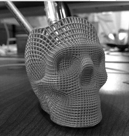 Skull penholder 3D servicio de impresión de prototipado rápido según su archivo de diseño ST105