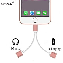 For iPhone 11 max 7 8 X In 1 Dual Lighting Aluminum Alloy Audio Changing Converter IOS Earphone Acce