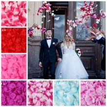 100PCS 5*5CM Silk Rose Petals for Wedding Decoration Romantic Artificial Rose Flower Wedding Accessories