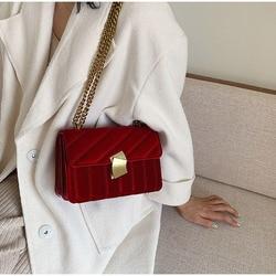 Sacos de ombro da noite da embreagem do vintage para a mulher luxo veludo bolsas designers corrente ouro crossbody sacos quadrados bolsas femininas