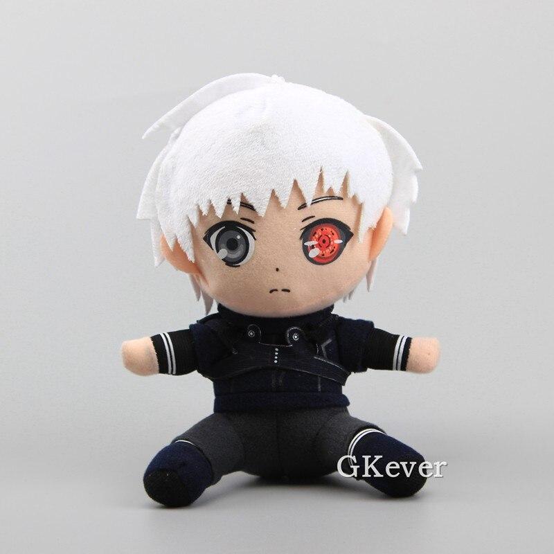 Gran oferta de Anime japonés de 18 cm, Tokyo Ghoul Kaneki Ken, muñecos de peluche de juguete, juguetes de peluche supersuaves, regalo para mujeres y niños