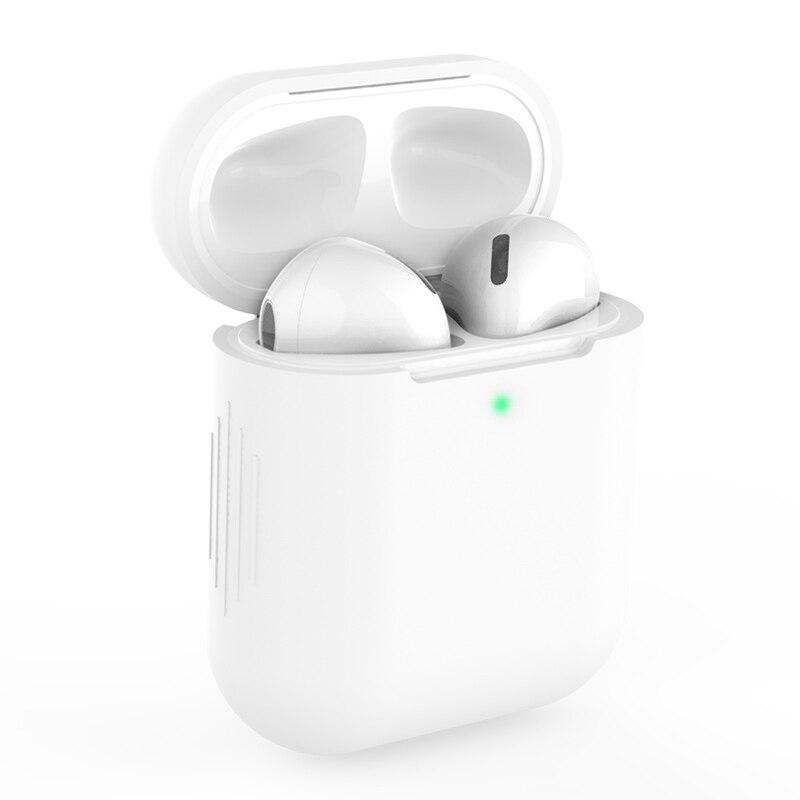 Funda protectora de silicona para AirPods 2 auriculares inalambricos con Bluetooth accesorios...