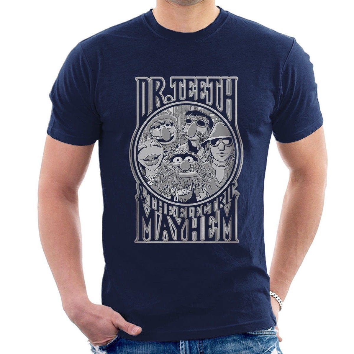Camiseta de DR TEETH & THE ELECTRIC MAYHEN, divertida camiseta con imagen de batería 3D para hombre, camiseta barata de manga corta para hombre