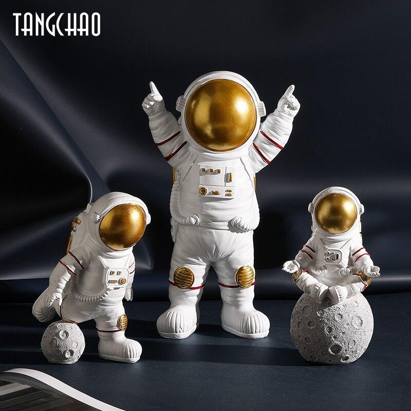 3 шт., статуэтки скандинавских астронавтов из смолы