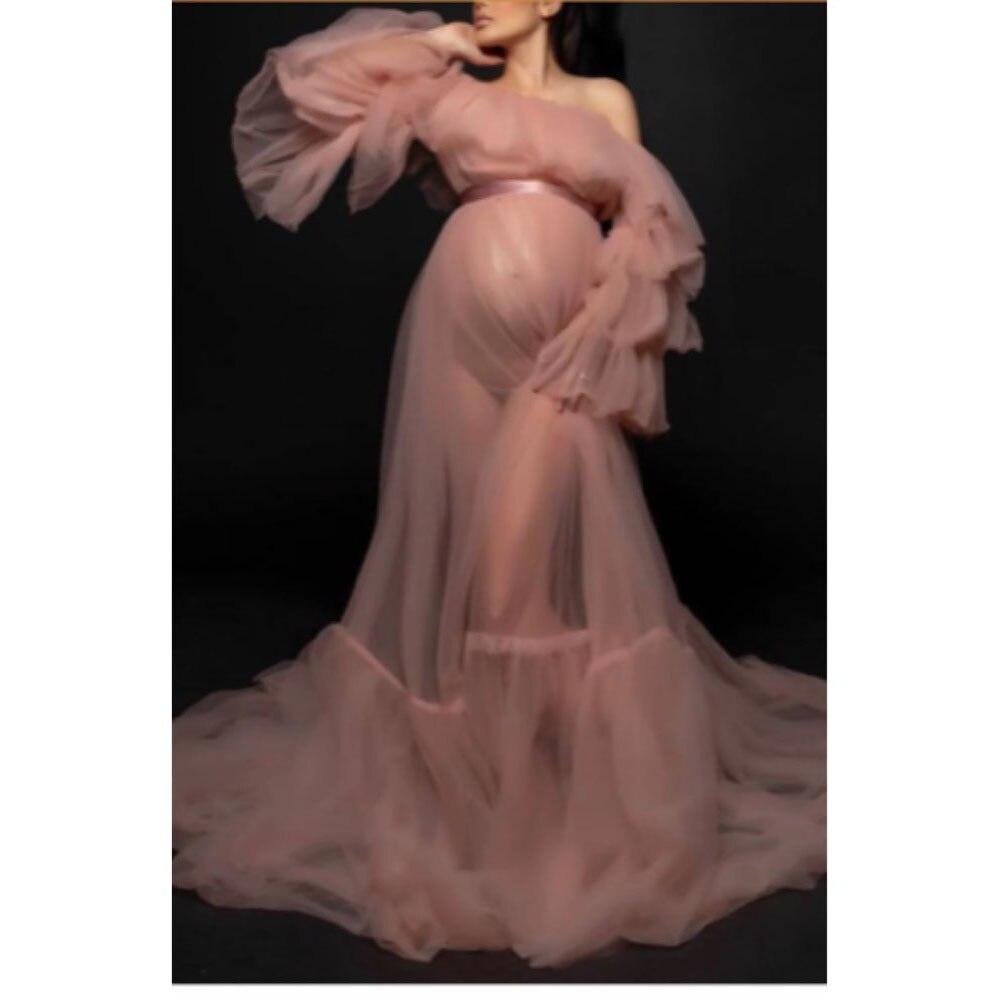 Вечерние платья для выпускного вечера; Одежда для беременных; Многослойное Пышное длинное торжественное платье с открытыми плечами; Фатино...