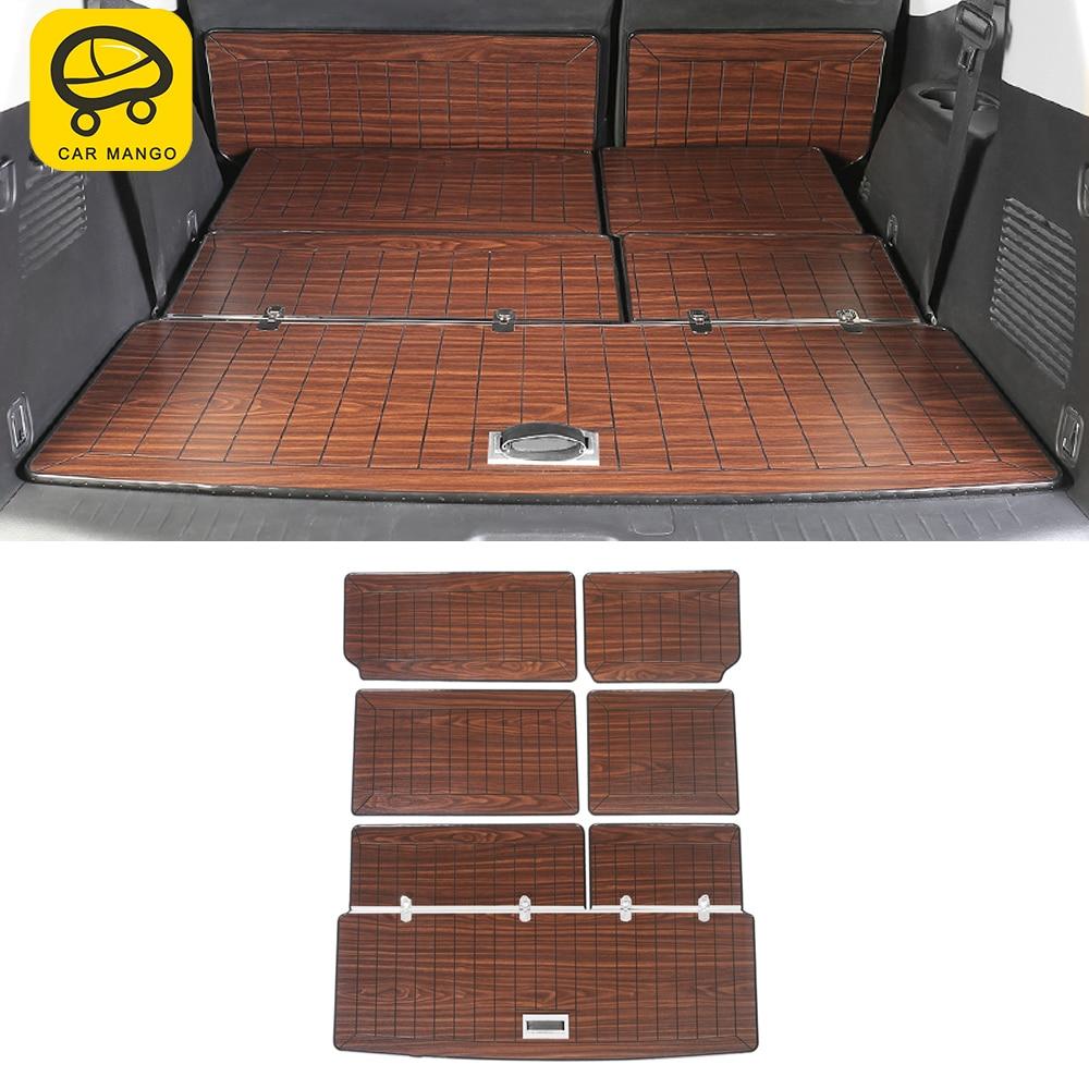 CarManGo para Nissan patrulla Y62 2010-2020 coche SUV esteras para maletero de carga de 7 Set de asientos de madera sintética bandeja almohadilla de alfombra alfombras