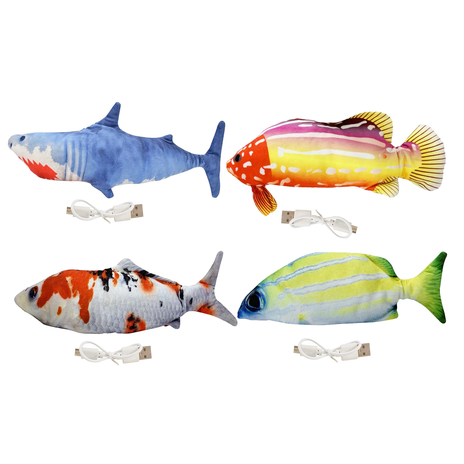 Moving Fish Cat Toy Electronic Flopping Fish Toys for Cats Pet Supplies Funny Chew Bite Toy for Indo