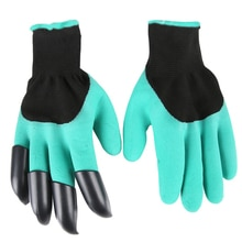 Guantes de jardín, guantes de caza para jardín, guantes de caza para jardinería y excavación con 4 garras de plástico ABS