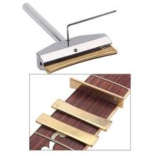 Prensa de traste de guitarra, herramientas de reparación de guitarra eléctrica, herramientas metálicas doradas