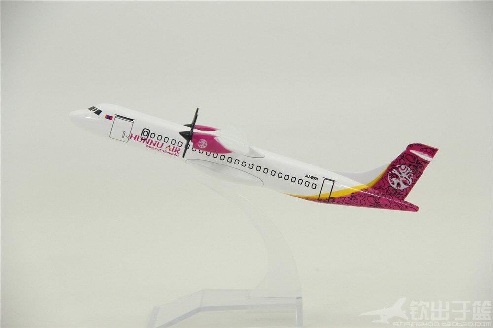 14cm modelo de avião ATR72-600 mongol hun hélice de ar aeronaves modelo decoração liga brinquedos para crianças adultos diecast 1400