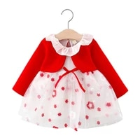 newborn baby girls dress infant clothing toddler flower party birthday tutu dresses for girls long sleeve dress baby clothes