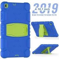 heavy duty case for samsung galaxy tab a 10 1 2019 silicone case t510 t515 shockproof cover with kickstand