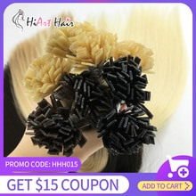 "HiArt 1g Flat Tip Hair Extensions In Human Remy Hair Salon Double Drawn Hair Extension Factory Keratin Hair Straight 18""-26"""