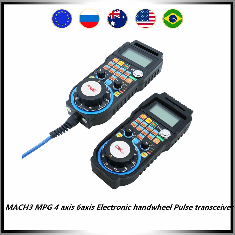 MACH3 MPG 4 محور 6 محور الإلكترونية عقارب نبض الإرسال والاستقبال WHB04B اللاسلكية LHB04B السلكية ل CNC راوتر