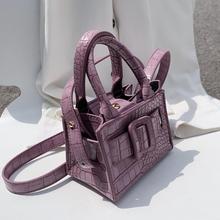 Stone pattern Mini Tote bag 2020 Summer New High quality PU Leather Women's Designer Handbag Travel Shoulder Messenger Bag