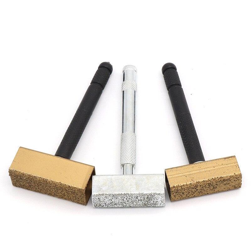 1 Uds disco abrasivo de diamante, amoladora de tocador, afiladora de piedra, muela, cuchillo de moldeado, banco, amoladora, herramientas de vestir