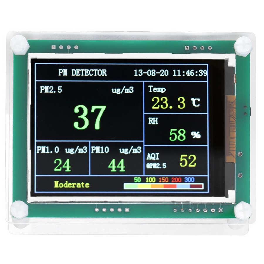Tysięczny wyświetlacz monitor jakości powietrza dobry efekt rozpraszania ciepła dokładność 1Ug/M3 inteligencja obudowa jest stabilna PM2.5
