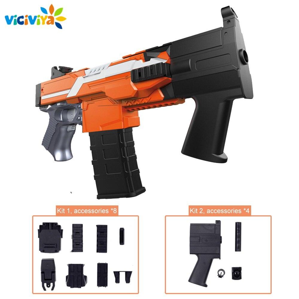 Accesorios eléctricos para pistola de balas blandas, juego para pistola Nerf MP7 MP5, juguete para niños al aire libre, Rifle, dardo, pistola de chorro de juguete, accesorios