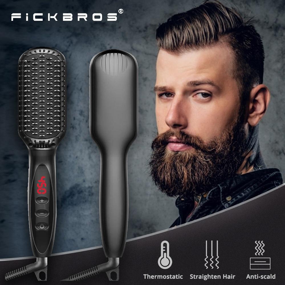 Multifunctional Hair Straightener, Hair Straightening Comb, Negative Ion Men's Hair Straightening Comb, Quick Styling of Beard