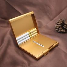 HOT 1Pcs Cigar Storage Container Metal Men Gift Smoking Accessories Cigarette Case Tobacco Holder Po