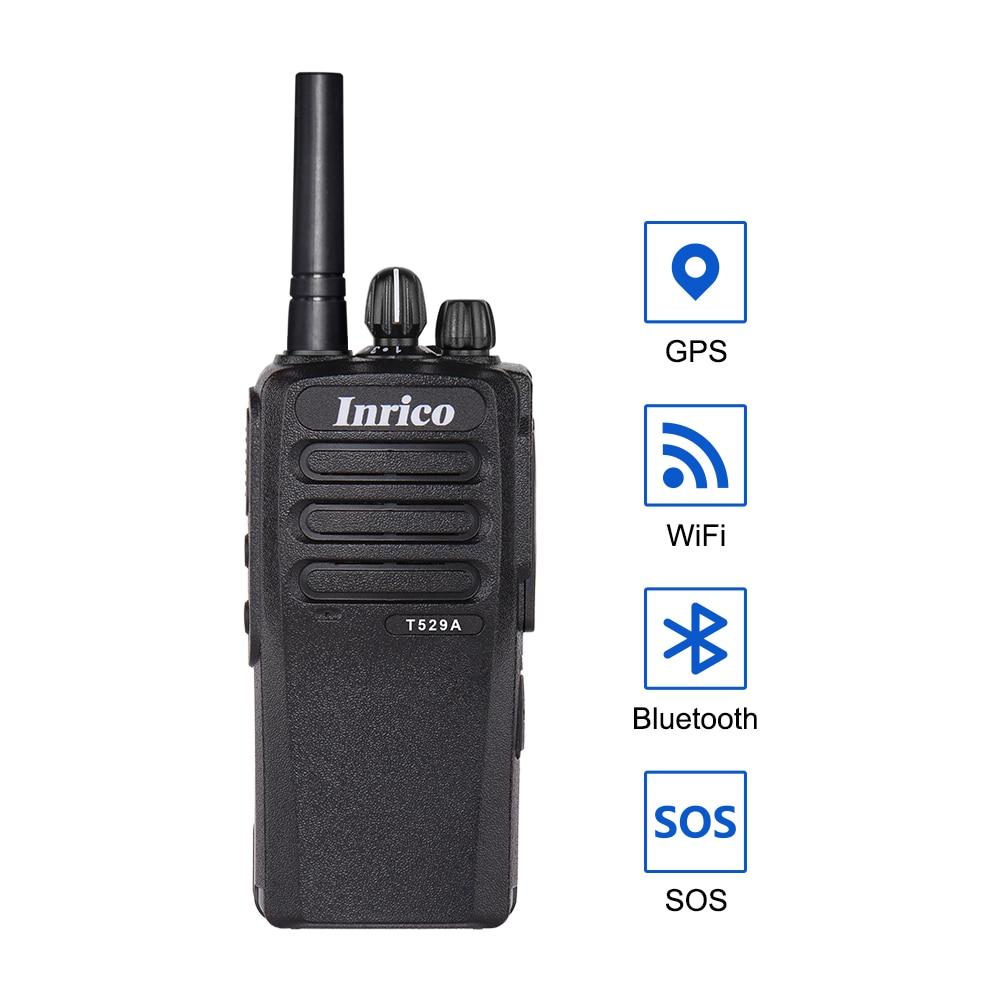 Inrico T529A Poc 4G Network Walkie Talkie Radio Bluetooth Wifi Gps NFC Android Mobile Radio Long Range Mini Walkie Talkie
