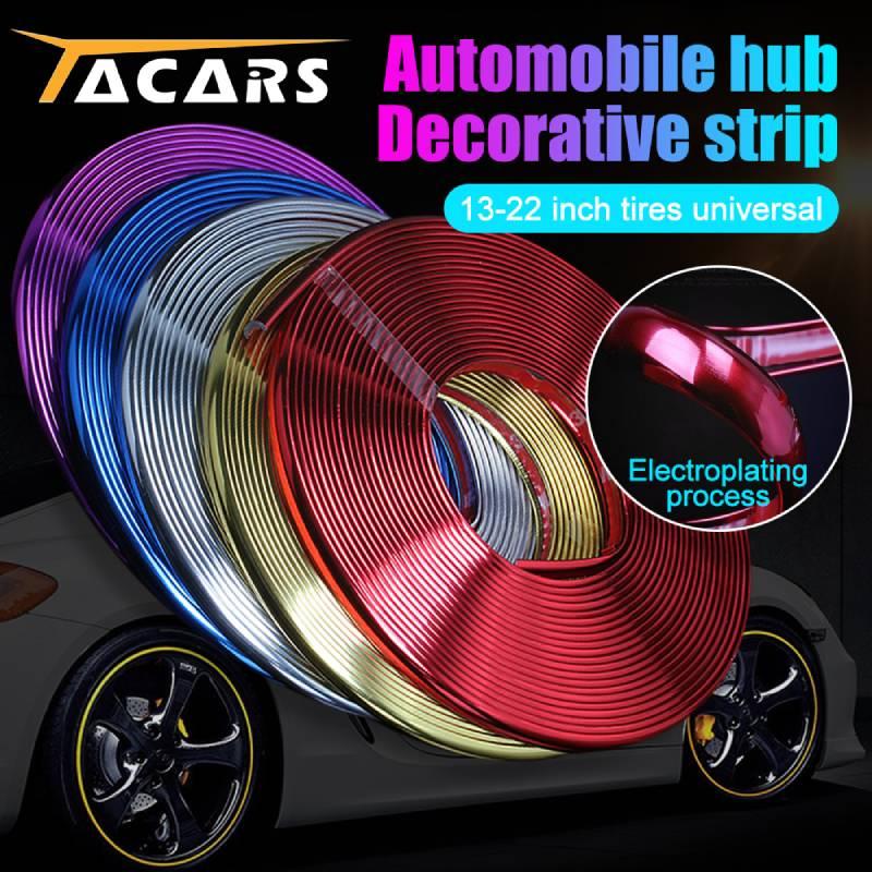 Jantes de voiture en caoutchouc, 8 m/rouleau, bande de protection, moulage, couleur, autocollant, pour véhicule