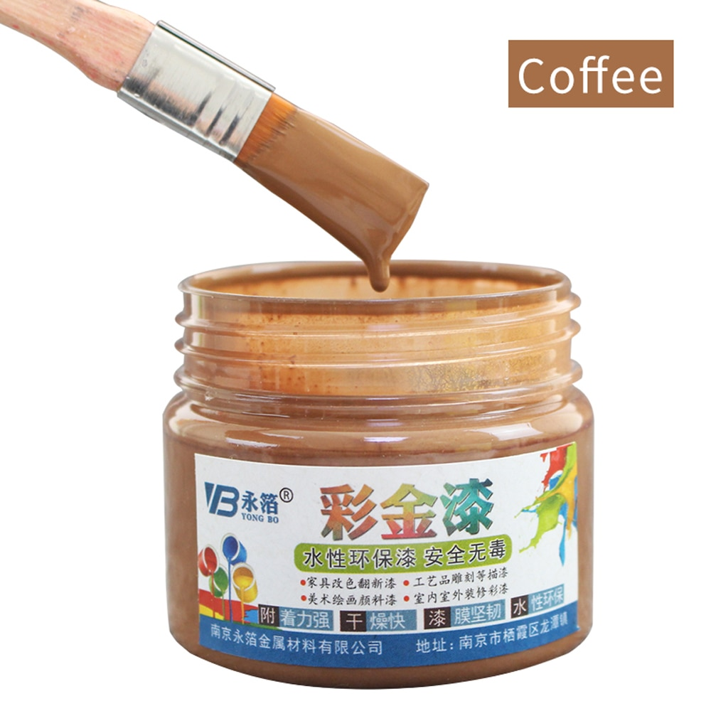 Фото - Краска на водной основе, металлический лак, деревянный лак, акриловая краска, краска для стен и дверей, краска для дерева, 100 г, краска для меб... краска