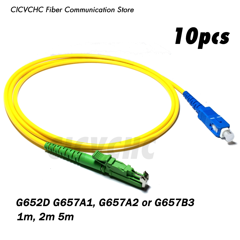 Puente de Cable de 10 Uds LSH(E2000)/APC-SC/fibra UPC patchwork cord-SM(9/125) G657B3, G657A2, G657A1 o G652D-1m, puente de Cable de 2m o 5m-3,0mm