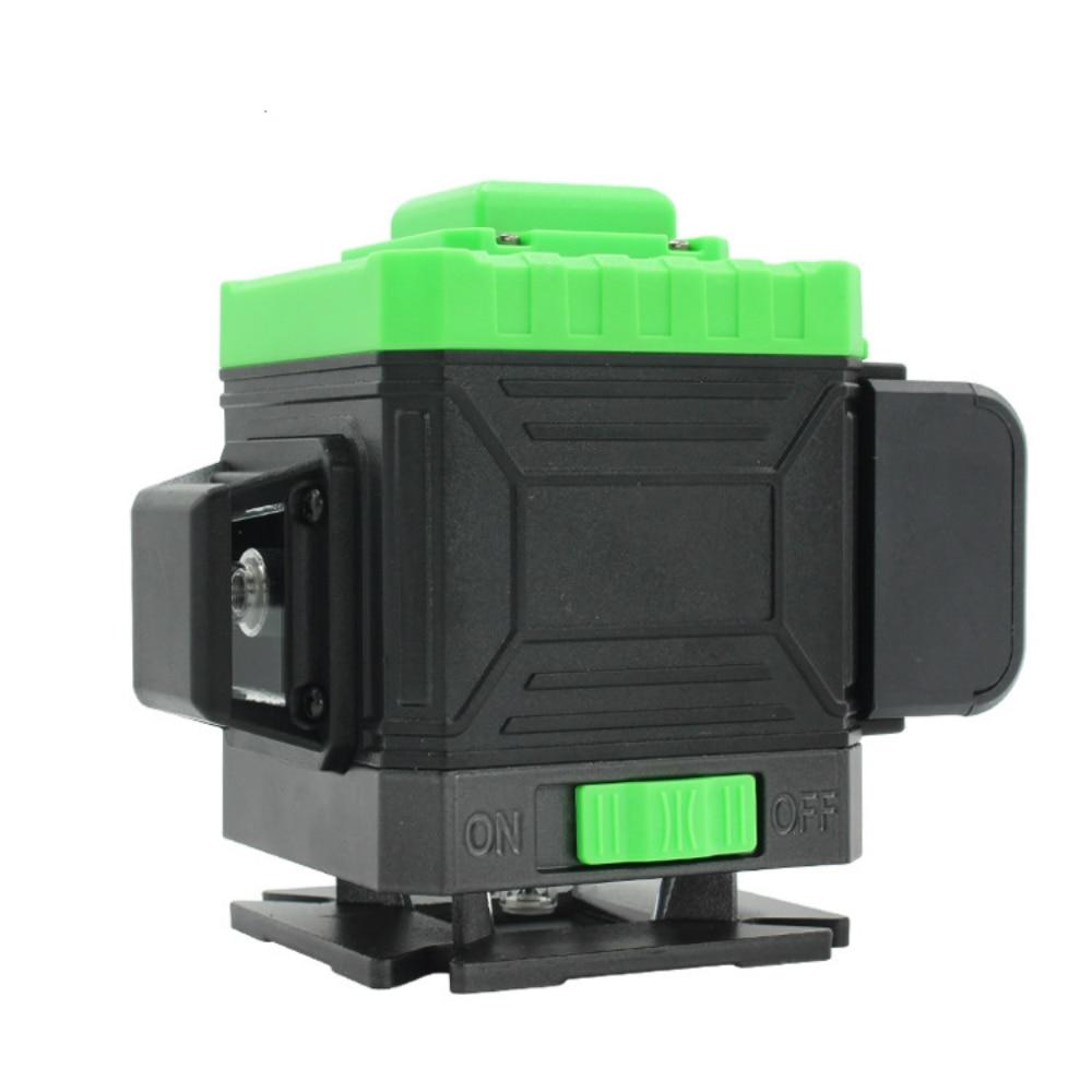 Nivel láser Luz fuerte 3D láser Slash 12 líneas verde al aire libre fundición línea de alta precisión instrumento de tierra a qiang yi