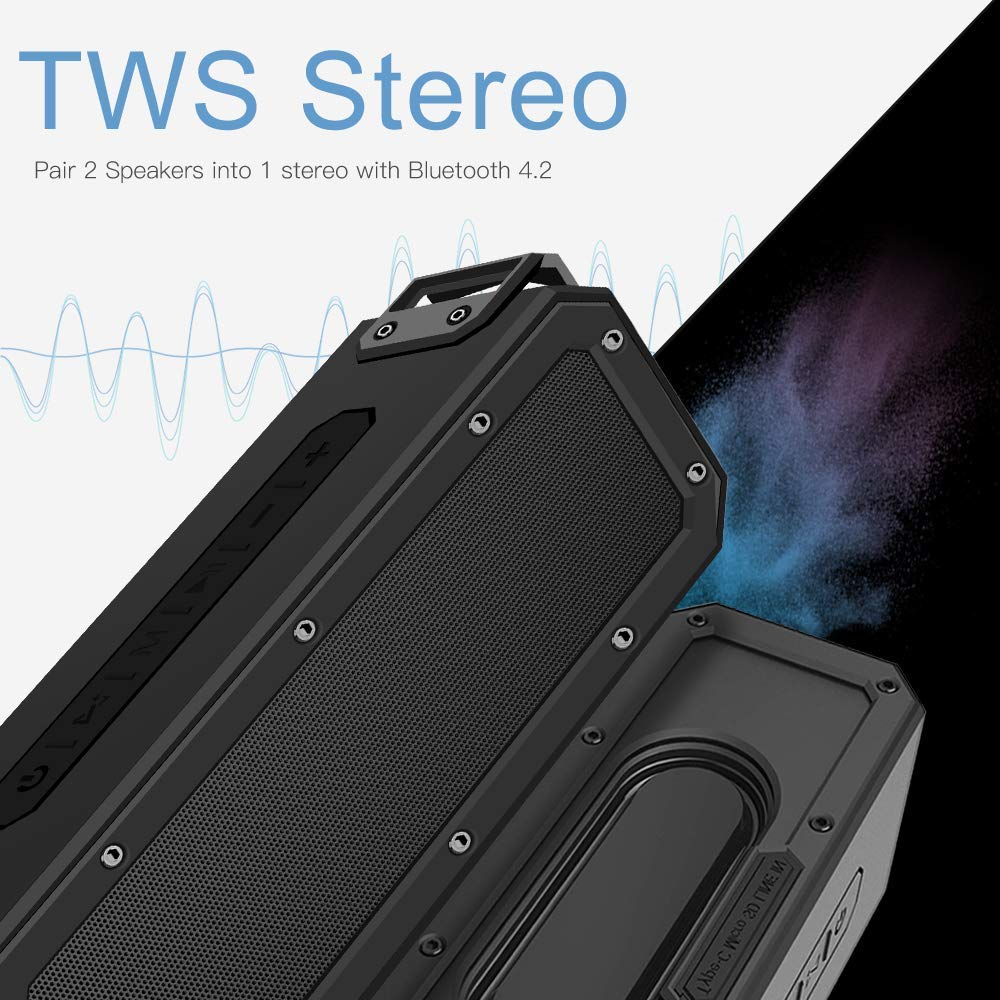 Portable Subwoofer 40W Wireless Bluetooth Speaker TWS Features TF Card Stereo 6600mAh IPX7 Waterproof Microphone enlarge