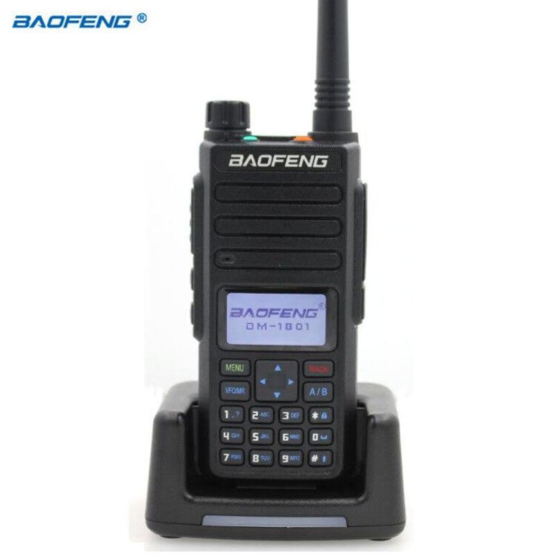 Baofeng-Walkie Talkie Digital DM-1801, banda Dual VHF/UHF, DMR Tier1 Tier2 Tier II, ranura de tiempo Dual, Digital, analógico, Radio de DM-860, 2020