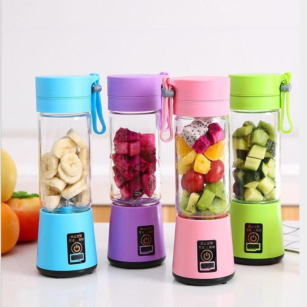 380ml portátil suco usb juicer copo multi-função misturador de frutas seis lâmina máquina de mistura smoothies comida para bebê dropshipping