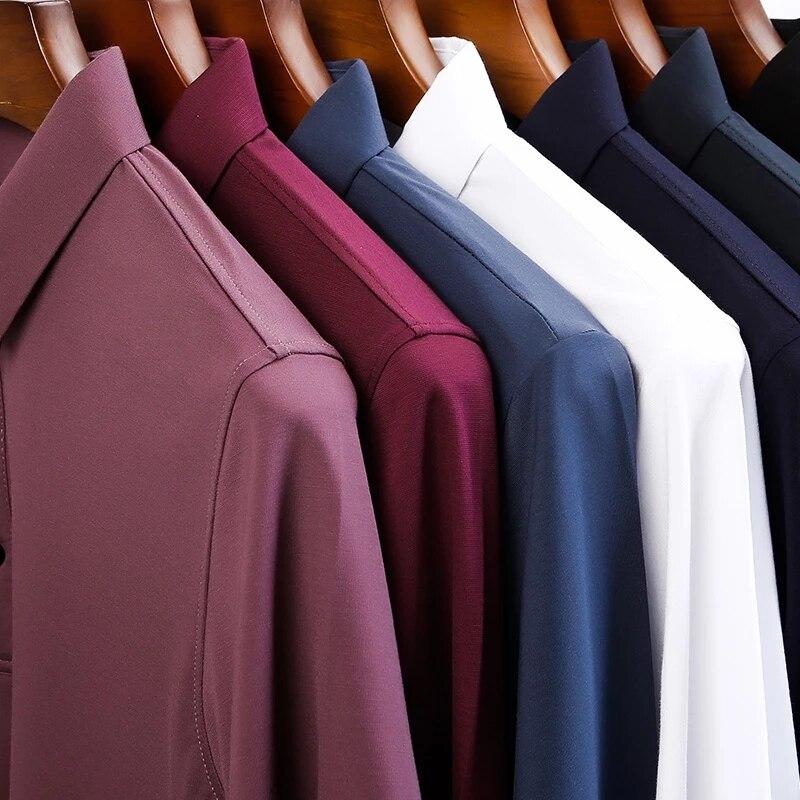 لون نقي جديد اللون الرجال الصيف القطن الحرير مخصص تي شيرت قصيرة الأكمام قميص الرجال الأعمال ضئيلة قميص غير رسمي
