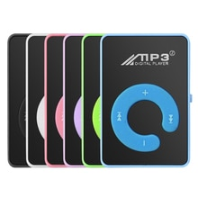 Portable Mini MP3 Music Player With Mirror Clip USB Digital Mp3 Player Supports 8-128GB SD TF Card F