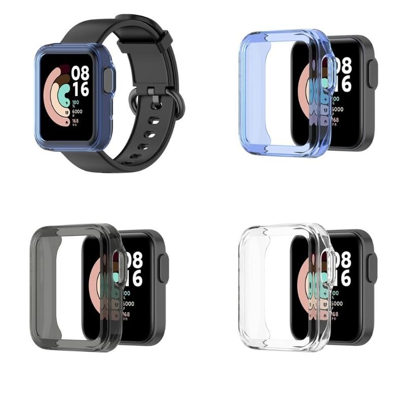 Ultra-Slim TPU Watch Case Skin Protective Cover for -Xiaomi Mi Watch Lite Global Version for Redmi W