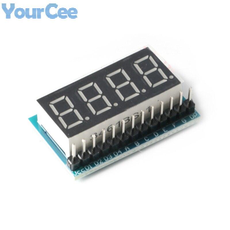 Módulo de exibição de 4 bits 0.36 polegada tubo digital vermelho destaque exibição interface serial exibição nixie 3.3-5v