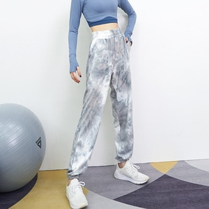 Women'S Sports Yoga Pants Tie Dye Fashion Is Thinner Tight-Fitting Casual Pants Outdoor Running Yoga High Waist Fitness Tights