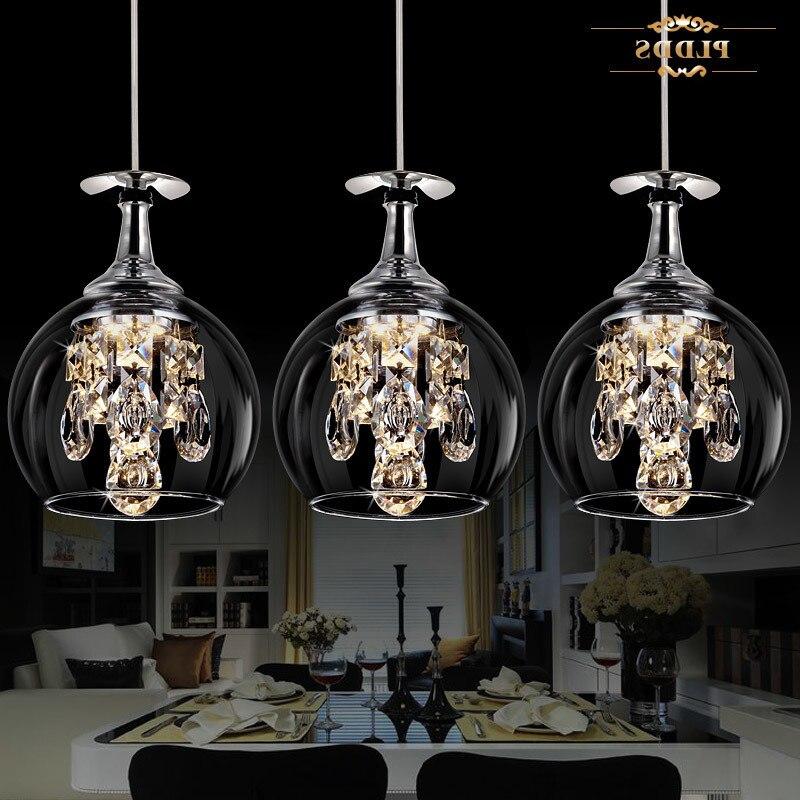 Lámpara led de cristal k9 de 5w para hogar, hogar, decoración, sala...