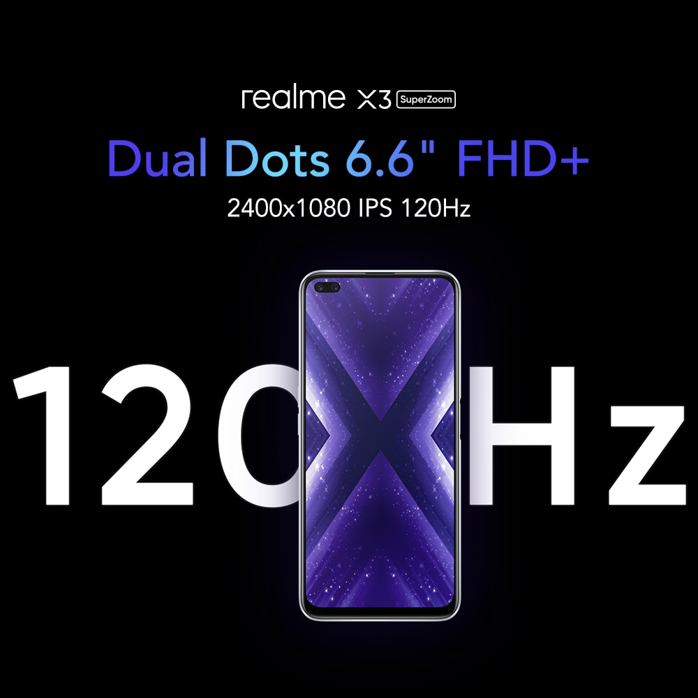 realme X3 4G LTE Smartphone 12GB 256GB Octa Core Snapdragon 855+ Mobile Phone 2400x1080 6.6