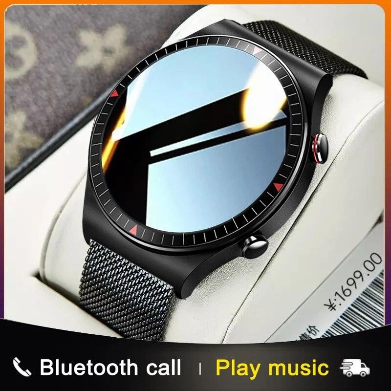 2021 جديد بلوتوث دعوة ساعة ذكية الرجال النساء مشغل موسيقى smartwatch ل شاومي هواوي الهاتف تسجيل الرياضة اللياقة البدنية المقتفي