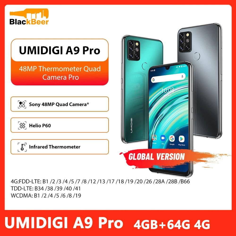 Перейти на Алиэкспресс и купить UMIDIGI A9 Pro Android 4G смартфон 6,3 дюйма FHD дисплей Мобильный телефон Helio P60 Восьмиядерный телефон 4 Гб + 64 ГБ 4150 мАч 48MP Al Camera