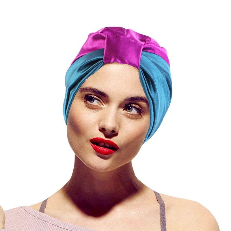 Модный мусульманский шелковый головной убор для женщин 2020, атласный головной платок, головной убор, тюрбан, женский головной убор, аксессуа...