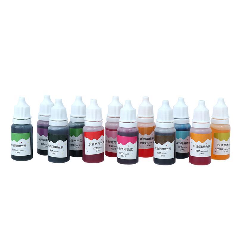 Pigmento de Color del pigmento de Color 12 Uds., 10ml, Útil Juego de jabón creativo, pigmento de tinte para hornear, fabricación de joyas