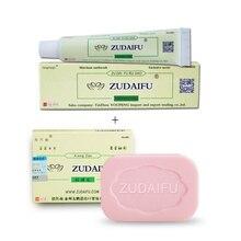 Zudaifu Skin Psoriasis Cream + Sulfur Soap Acne Psoriasis Seborrhea Eczema Anti Fungus Bath Whitenin